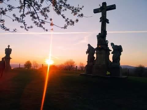 Západ slunce nad Křížovým vrchem
